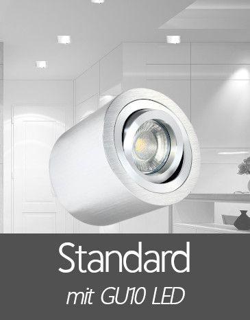 Aufbaustrahler mit Standard GU10 LED