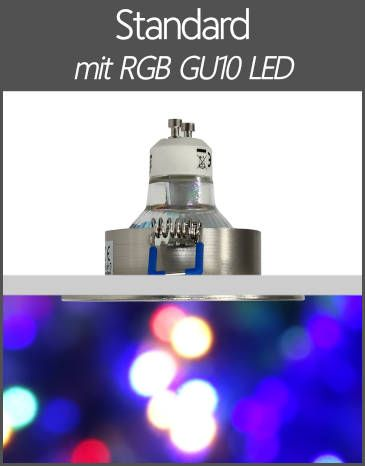LED Einbaustrahler RGB Farbwechsel Standard GU10