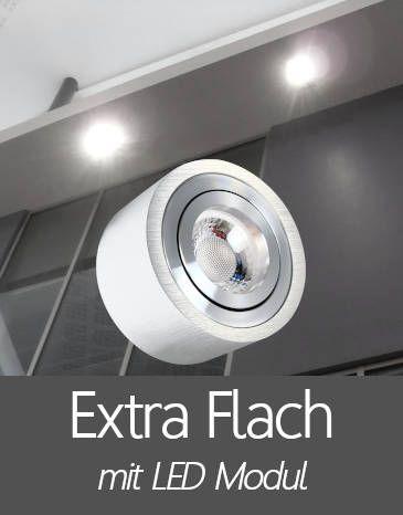 Außenleuchten Aufbaustrahler IP44 mit Extra Flache LED Modul