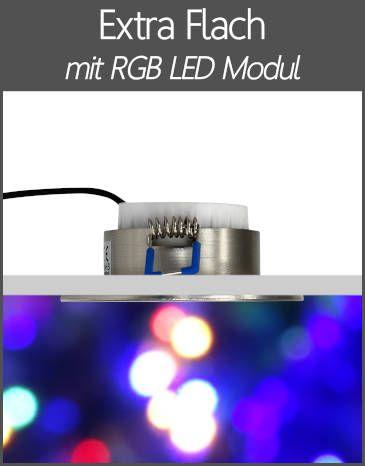 LED Einbaustrahler RGB Farbwechsel Extra Flach LED Modul