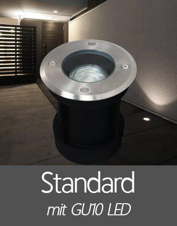 Bodenleuchten mit Standard GU10 LED