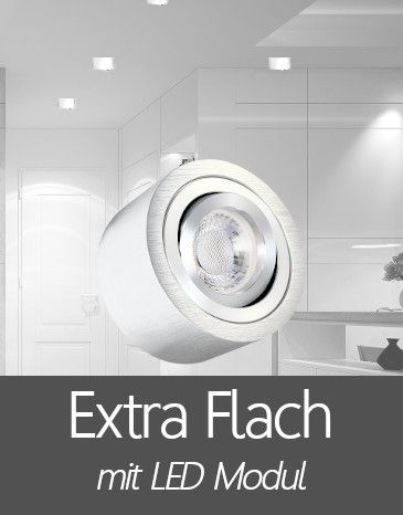 Aufbaustrahler mit Extra Flache LED Modul