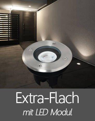 Bodenleuchten mit Extra Flache LED Modul