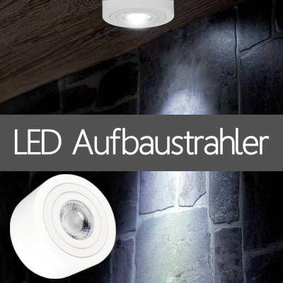 LED Aufbaustrahler IP44 für Außenanlagen Haus Vordach Fassade