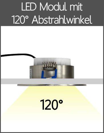 LED Außenleuchten Einbaustrahler IP44 Flach-Modul mit Kappe 120° Abstrahlwinkel