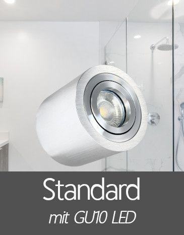Bad Aufbaustrahler mit Standard GU10 LED