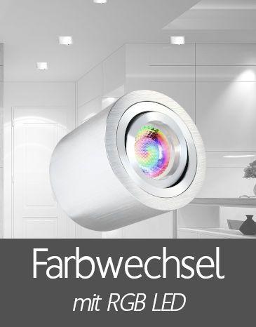 Aufbaustrahler mit RGB LED